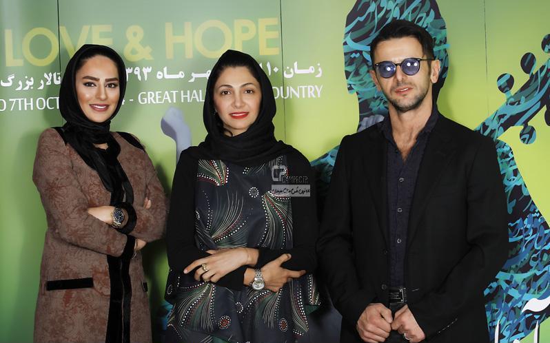 سمانه پاکدل و نیلوفر خوش خلق و همسرش امین حیایی در کنسرت مرتضی پاشایی