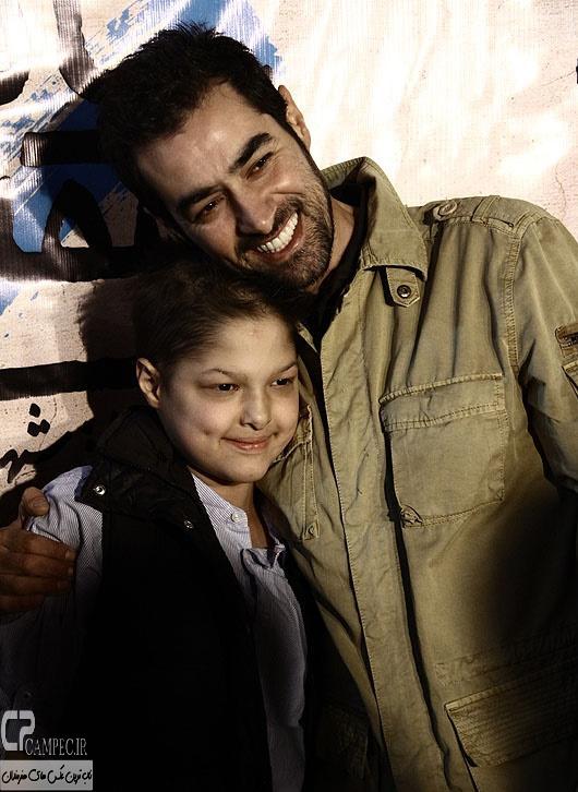 شهاب حسینی و پسرش در مراسم افتتاحیه فیلم سینمایی ساکن طبقه وسط