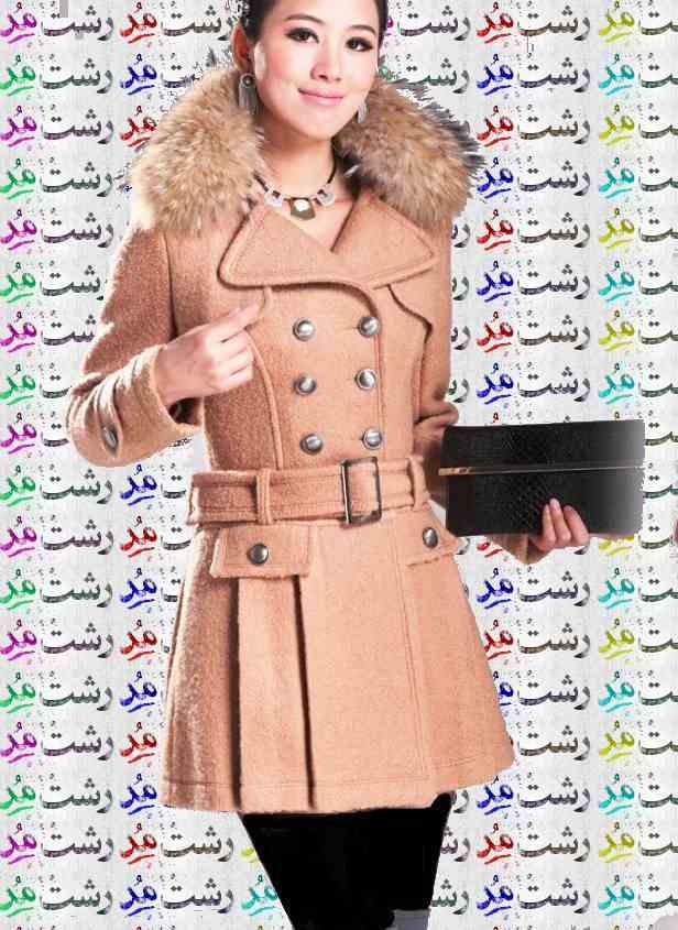 مدل پالتو بلند دخترانه كره ای 2015 مدل پالتو رنگ قهوه ای