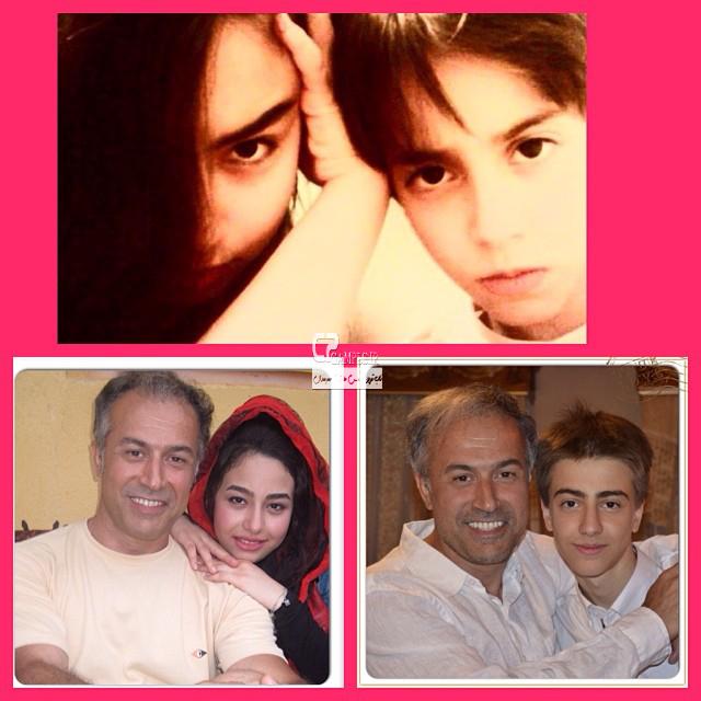 دایانا حکیمی با پدر و برادرش