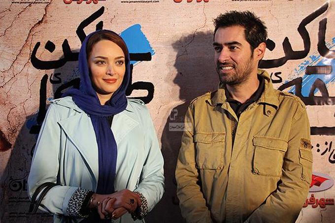 بهنوش طباطبایی و شهاب حسینی در افتتاحیه فیلم سینمایی ساکن طبقه وسط