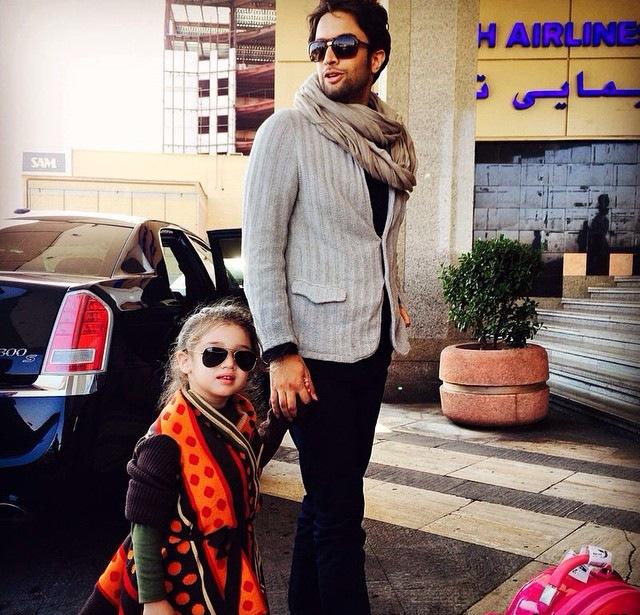 بنیامین بهادری و دخترش + عکس ها