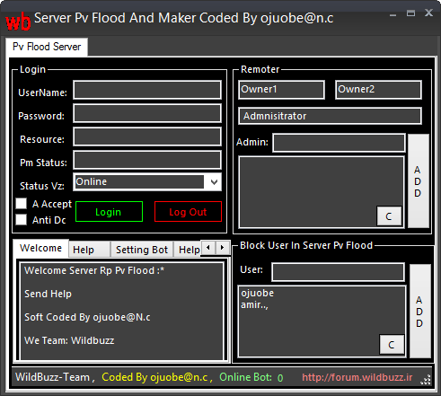 Server Pv Flood And Maker Best Server  Coded By ojuobe@n.c  2014_10_15_094656