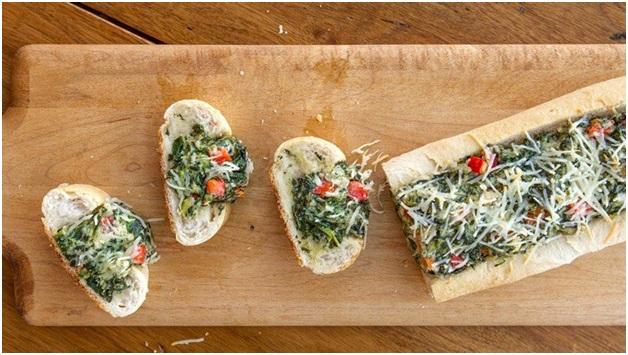 آشپزی: دیپ اسفناج با نان فرانسوی