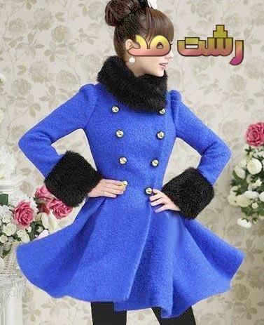 جدیدترین مدل پالتو زمستانی پاییزی دخترانه مدل فشن کره ای 2015