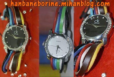 مدل ساعت مچی طرح دار بند متفاوت دخترانه زنانه برای خرید