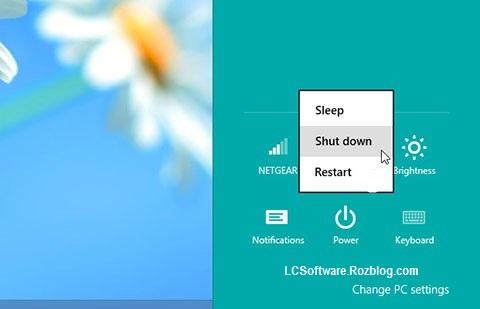 اضافه کردن گزینه Shut Down به کلیک راست ویندوز  7,8,8.1,xp