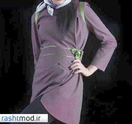 عکسهای مدل مانتوهای بند زنانه دخترانه رنگ شاد