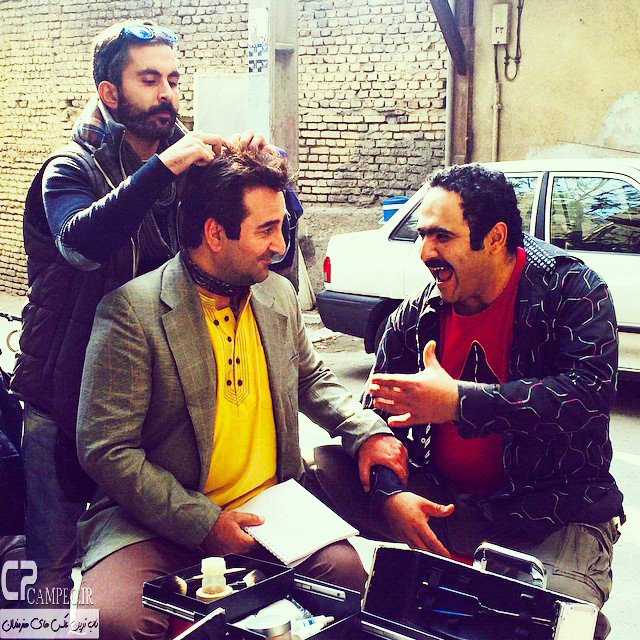 مهران احمدی در پشت صحنه سریال ابله