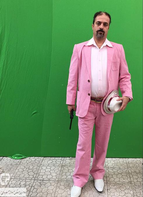 احمد مهران فر در پشت صحنه سریال ابله