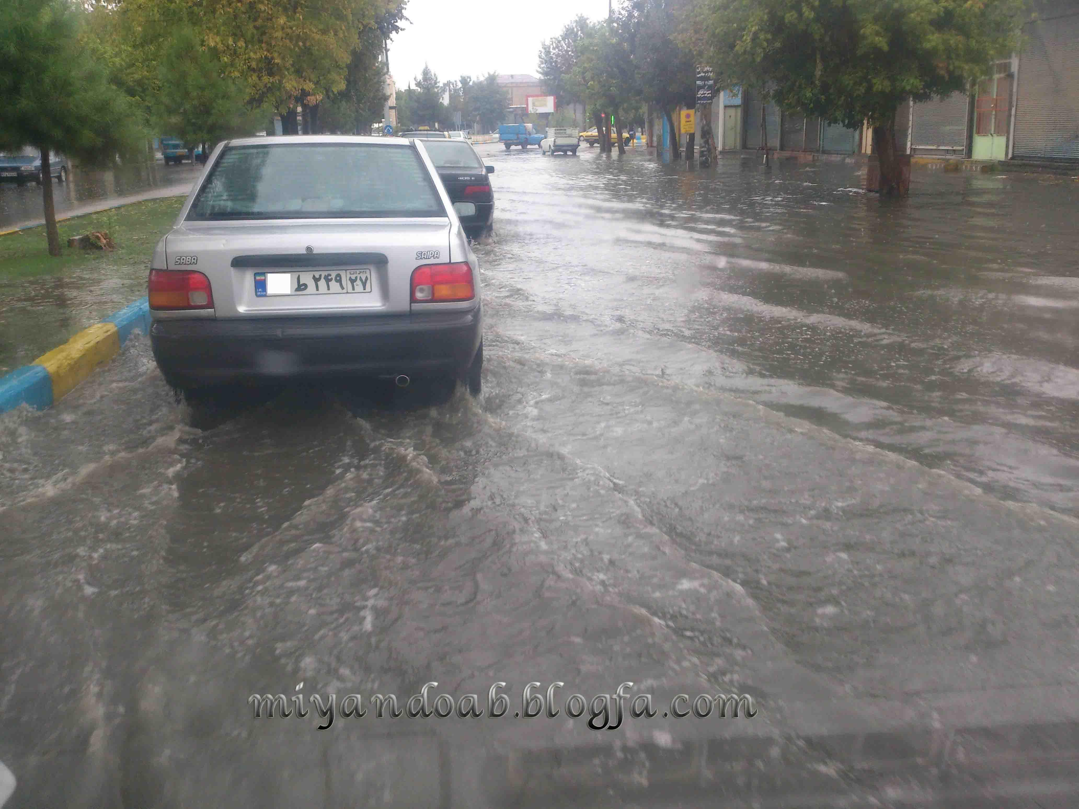 بارش  باران در میاندواب