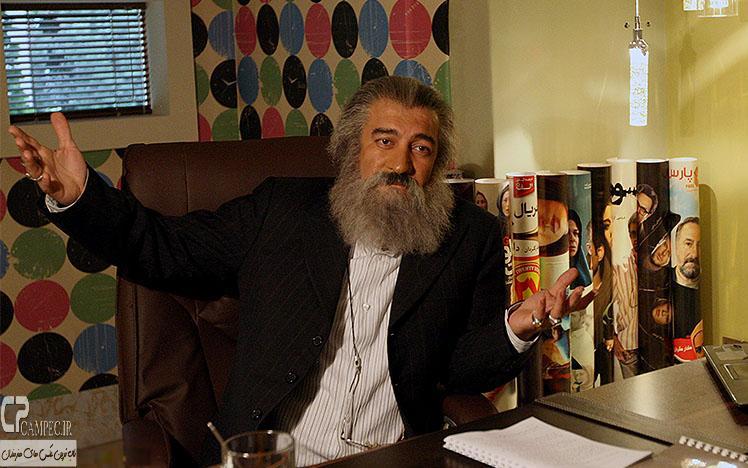 مجید صالحی در پشت صحنه سریال ابله