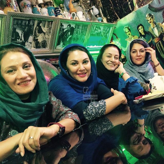 خواهران اسکندری و مریلا زارعی و شبنم مقدمی در اصفهان