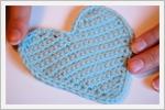 آموزش تصویری قدم به قدم  بافت قلب قلاب بافی