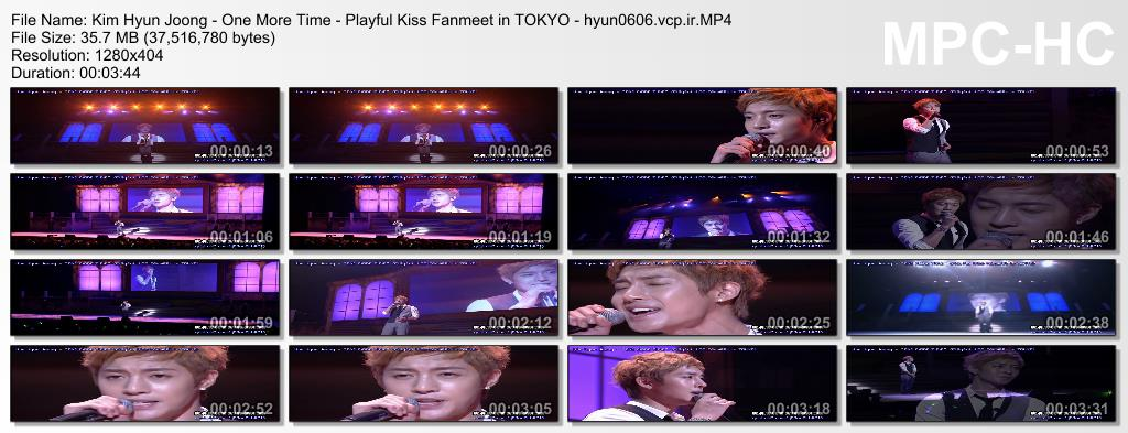 Kim Hyun Joong - One More Time - Playful Kiss Fanmeet in TOKYO & Rehearsal