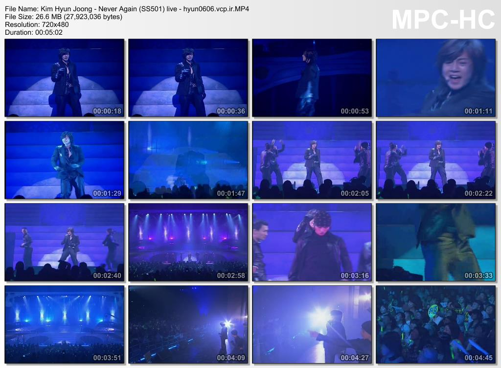 Kim Hyun Joong - Never Again (SS501) live