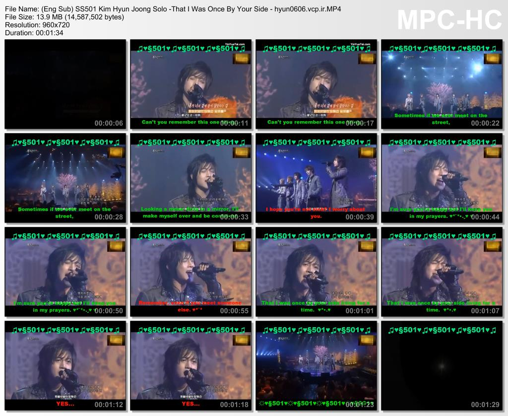 Eng Sub_SS501 Kim Hyun Joong Solo -That I Was Once By Your Side
