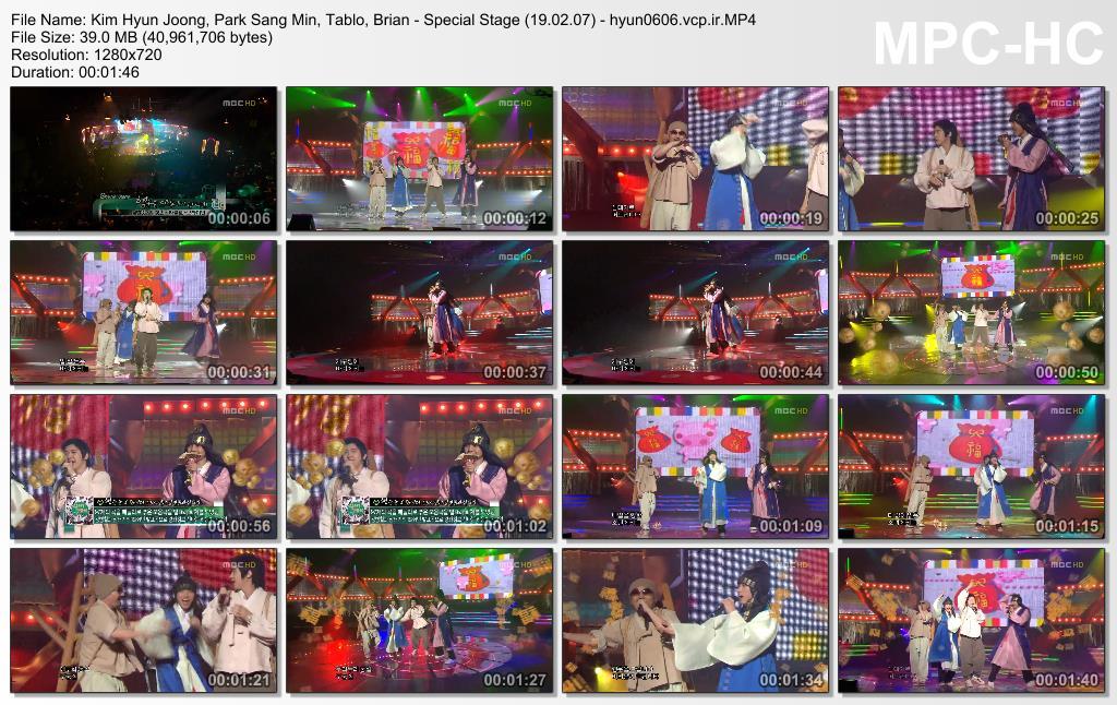Kim Hyun Joong, Park Sang Min, Tablo, Brian - Special Stage 19.02.07