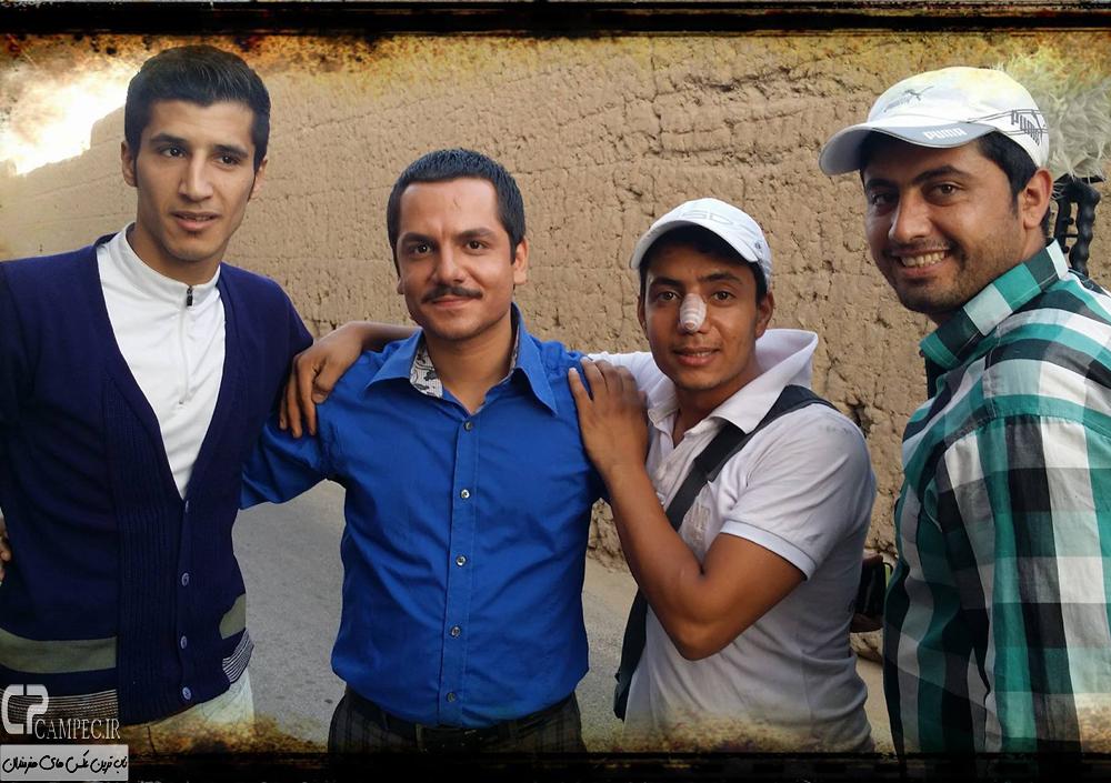 عباس غزالی در پشت صحنه سریال حانیه