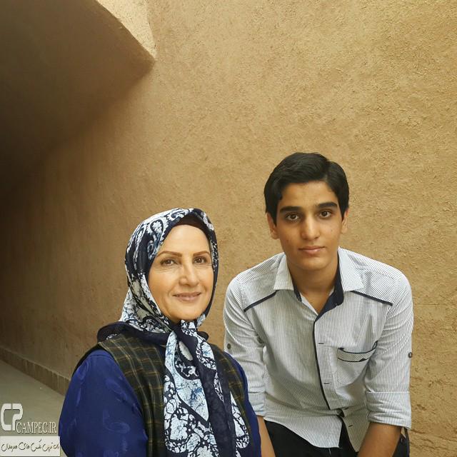 زهرا سعیدی در پشت صحنه سریال حانیه