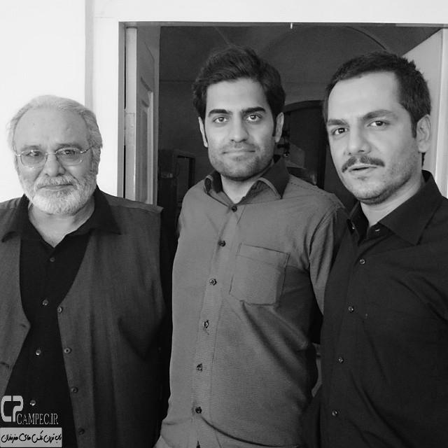 عباس غزالی و محمد کاسبی در پشت صحنه سریال حانیه