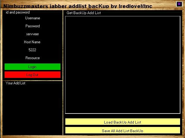 Nimbuzzmasters jabber addlist backuper and s2a sender  Nmb2