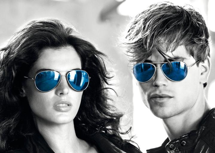 خرید عینک ریبن خلبانی شیشه آبی
