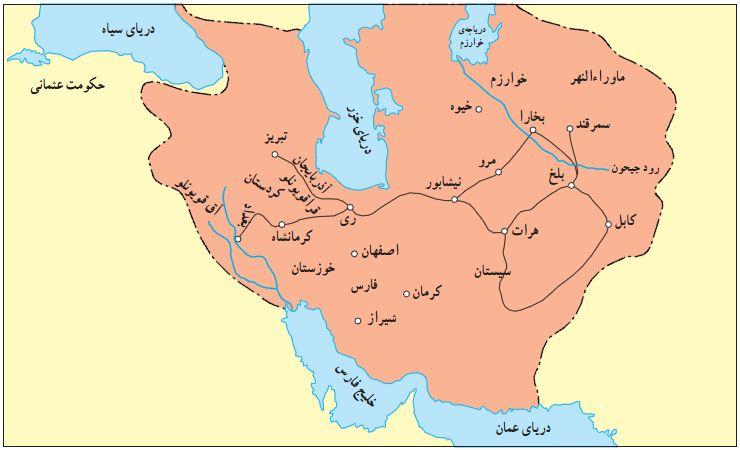 قلمرو تیموریان در زمان شاهرخ