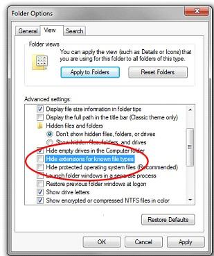 آموزش مخفی سازی فایل با تغییر پسوند