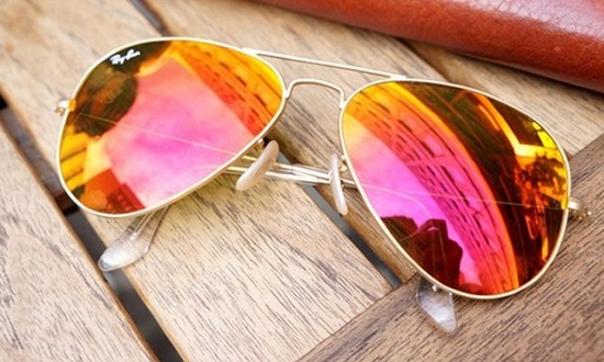 خرید عینک آفتابی ریبن شیشه آتشی