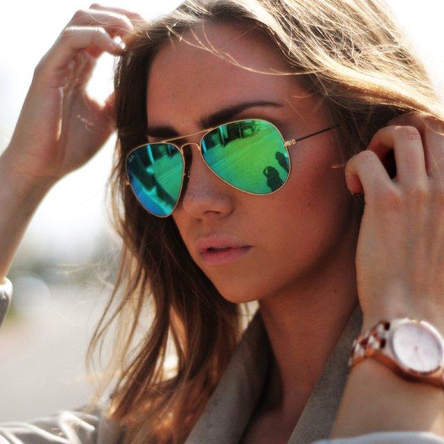 خرید عینک آفتابی ریبن شیشه سبز