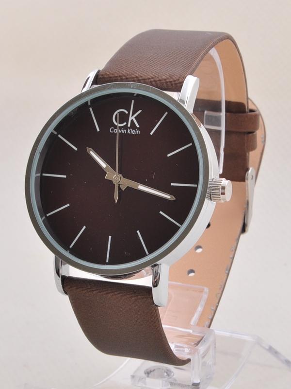 خرید ساعت مچی بند چرمی مردانه بند قهوه ای|کلاک men- آرنا