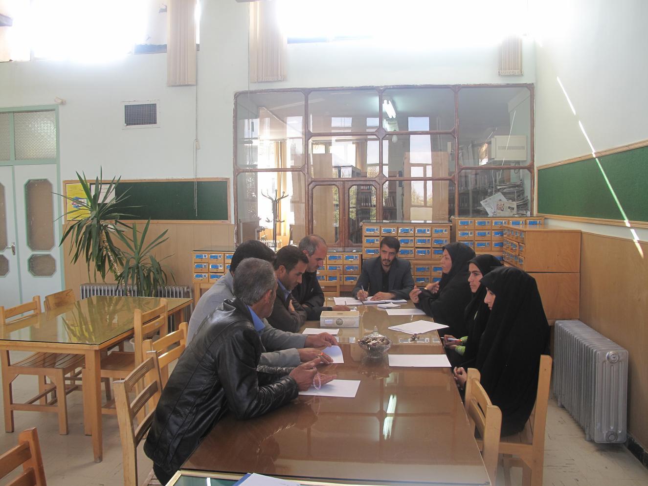 جلسه ستاد هفته کتاب شهرستان خدابنده