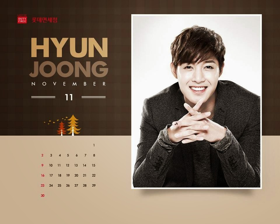 Photo_Kim Hyun Joong - Lotte Duty Free November 2014 Calendar Wallpaper