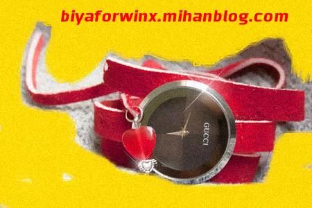 خرید ساعت مچی زنانه مدل گوچی رنگ قرمز ابان 1393