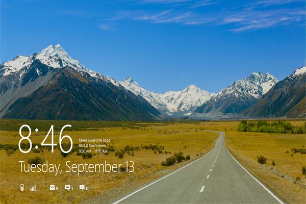 آموزش حذف صفحه Lock Screen در ویندوز 8