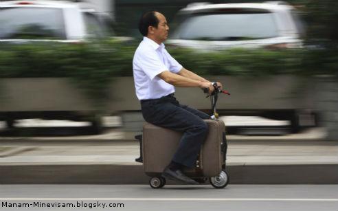 همه اختراعات جالب چینی ها - کیف موتور سیکلتی
