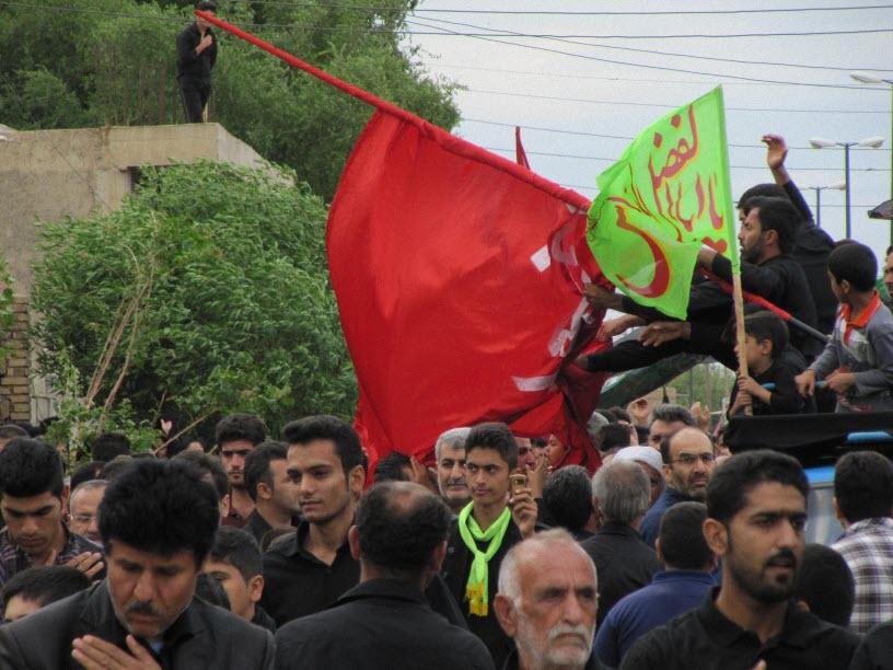 3  مراسم  پرچم  بنی هاشم (ع) در شهر ترکالکی  1393/8/9
