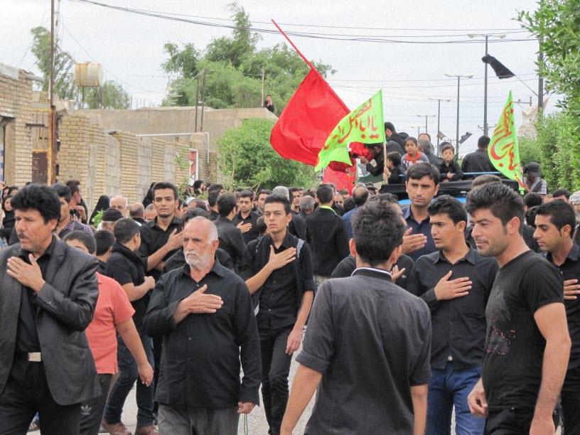4  مراسم  پرچم  بنی هاشم (ع) در شهر ترکالکی  1393/8/9
