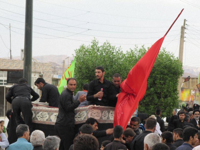 6  مراسم  پرچم  بنی هاشم (ع) در شهر ترکالکی  1393/8/9