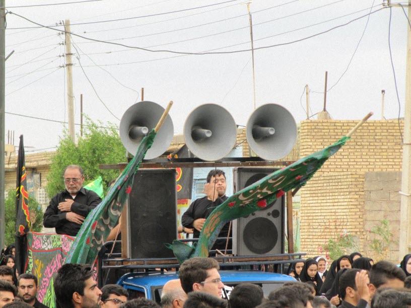 7  مراسم  پرچم  بنی هاشم (ع) در شهر ترکالکی  1393/8/9