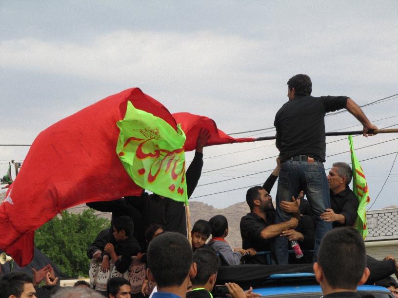 14  مراسم  پرچم  بنی هاشم (ع) در شهر ترکالکی  1393/8/9
