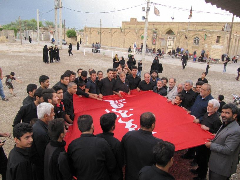 29  مراسم  پرچم  بنی هاشم (ع) در شهر ترکالکی  1393/8/9