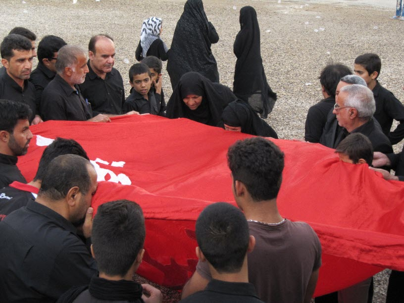 31  مراسم  پرچم  بنی هاشم (ع) در شهر ترکالکی  1393/8/9