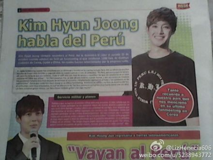 [Scans] Kim Hyun Joong In The Peruvian Newspaper Asia Al Dia № 96 [14.11.02]