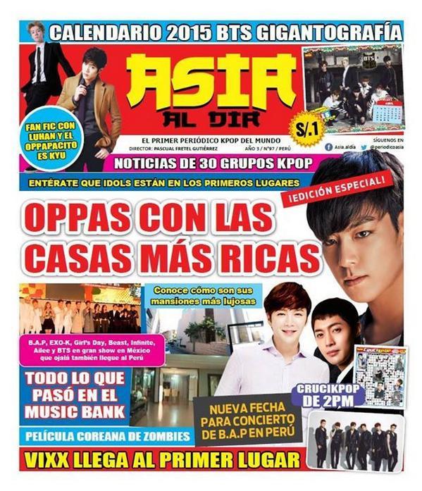 [Scan] Kim Hyun Joong In The Peruvian Magazine Asia Al Dia № 97 [05.11.14]