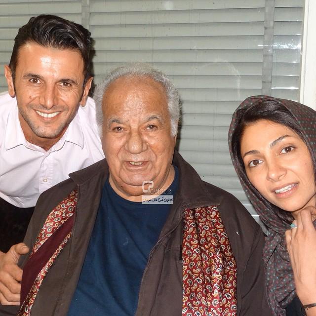 نیلوفر خوش خلق و همسرش امین حیایی و ناصر ملک مطیعی