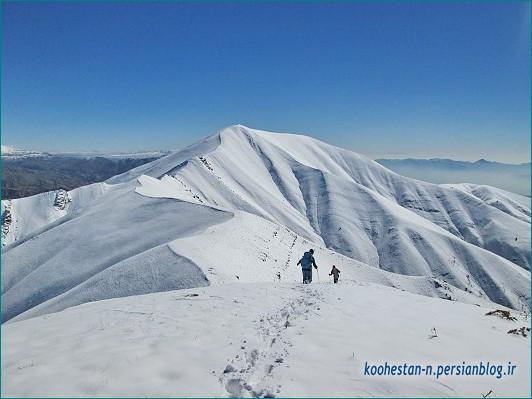 مسیر قله ورجین زمستانه