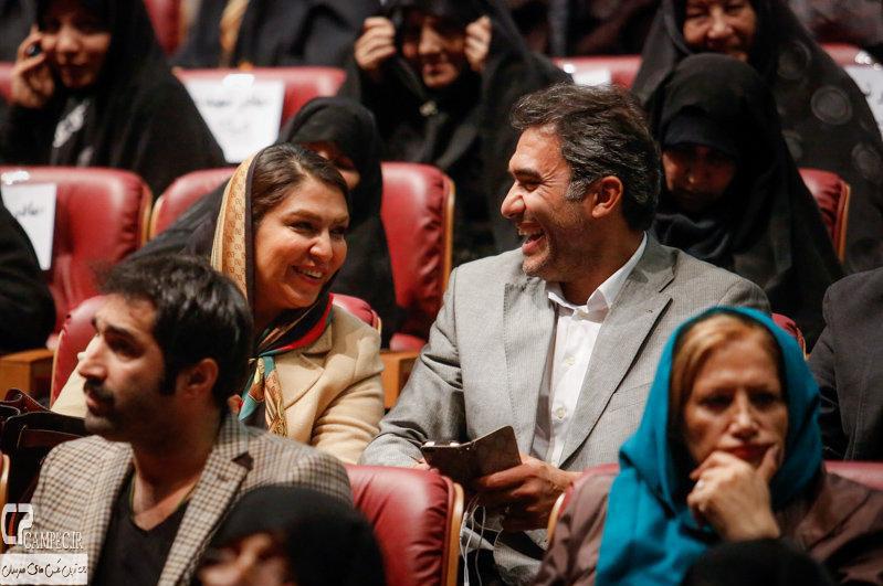 احمد رضا عابدزاده و همسرش