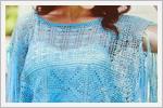 لباس قلاب بافی زنانه با نقشه بافت